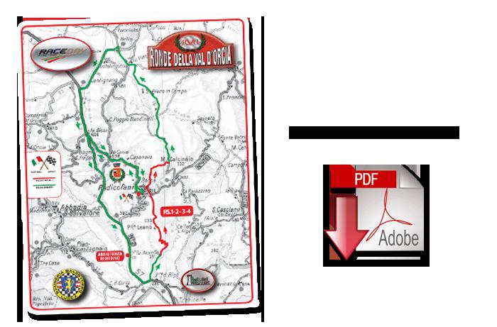Percorso 8° Ronde della Val D'Orcia 2016